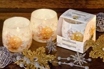 Illatos gyertya üvegben - Karácsonyi álom, 100g, égési idő 30 óra