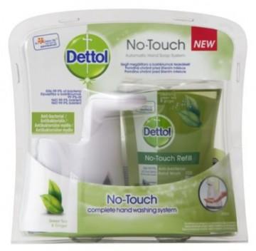 Dettol - dispenser NO TOUCH pentru săpun lichid - Ceai verde și ghimbir