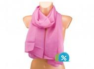 Letní šátek jednobarevný - sytě růžový