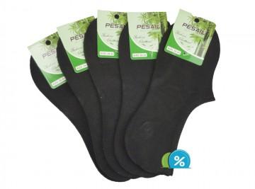 Pánské podkotníkové bambusové ponožky Pesail YM04 - 5 párů, velikost 43-47