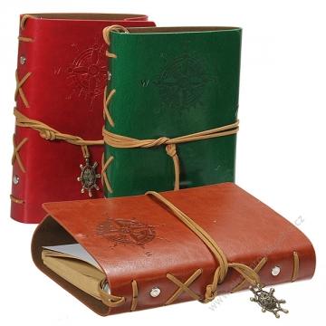 Originálny cestovateľský denník v kožených deskách
