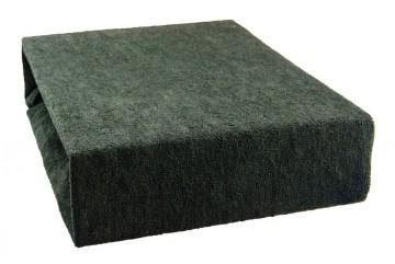 Prostěradlo froté 140x200 cm - černé
