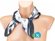 Malý šátek s motivem motýla, 55x55cm - černý