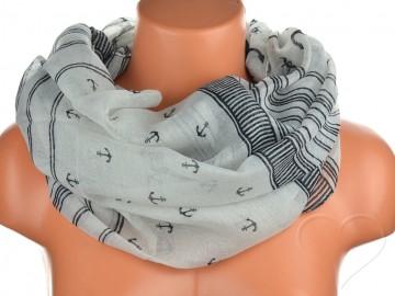 Jednobarevný letní šátek - černošedý