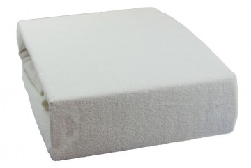 Prostěradlo froté 200x220 cm - bílé