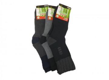Férfi egészségügyi bambusz termo zokni  AMZF PA-6402 - 3 pár, méret 40-43