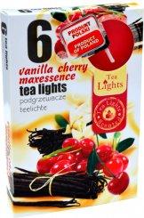 Čajové svíčky 6 kusů –  Třešeň a vanilka