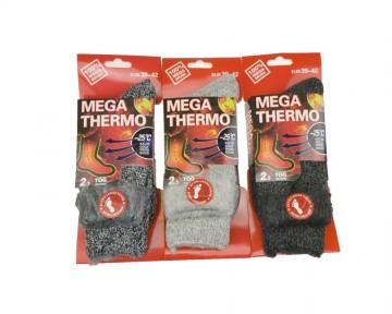 MEGA termo ciorapi pentru bărbați - colorați - 1 perechi, mărimea 43-46