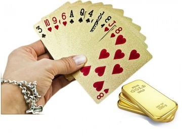 Cărți de joc pentru poker aurii (54 cărți)