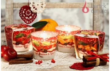 Vonná svíčka ve skle – Vánoční jablko a skořice, 115g