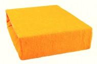 Prostěradlo froté 160x200 cm - světle oranžové