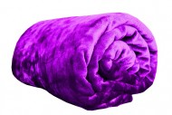 Deka z mikroflanelu, velikost 200x220 cm - fialová