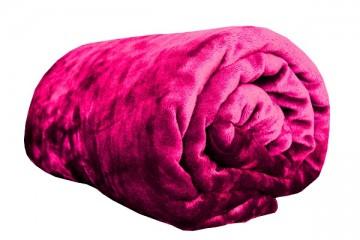Deka z mikroflanelu, velikost 200x220 cm - tmavě růžová