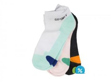 Dámské kotníkové bavlněné ponožky Pesail LW085 - 3 páry, velikost 35-38