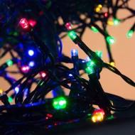 Karácsonyi LED fények - 400LED, 11m - színes, kültéri használatra