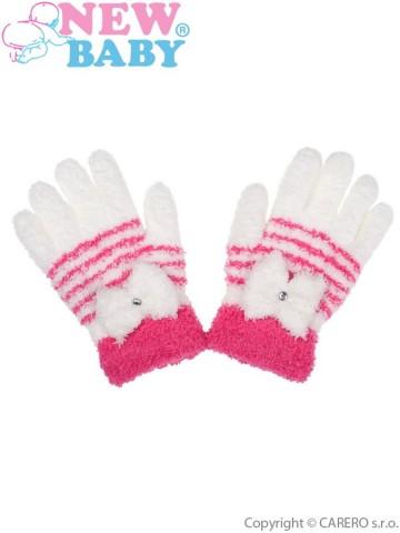 Dětské zimní froté rukavičky New Baby bílé