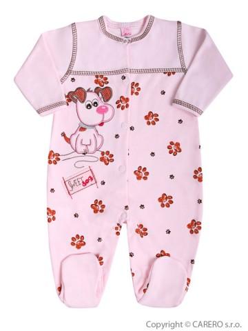 Dojčenský overal Koala Rexík ružový