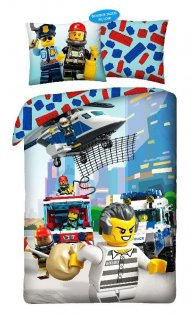 HALANTEX Povlečení Lego Policie Bavlna, 140/200, 70/90 cm