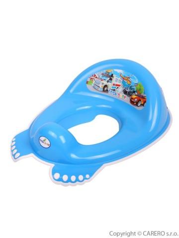 Dětské protiskluzové sedátko na WC Autíčka modré