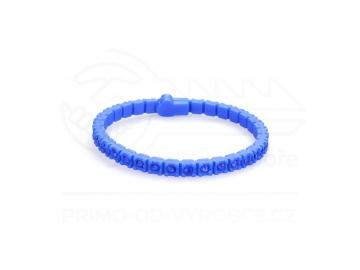 Náramek gumový s kamínky - modrý