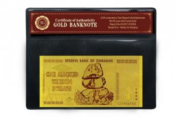 Bankovka 100 miliard zimbabwských dolárov