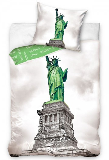 Povlečení CARBOTEX New York Socha Svobody 140/200