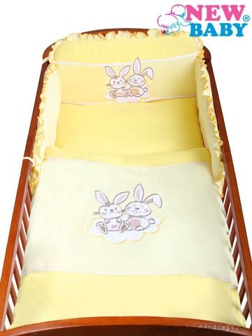3-dielne posteľné obliečky New Baby Bunnies 90/120 žlté