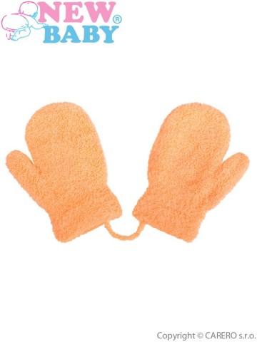 Dětské zimní rukavičky New Baby se šňůrkou oranžové