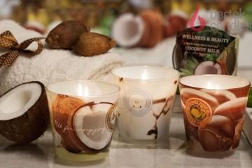 Vonná svíčka ve skle - Kokosový ořech, 115g