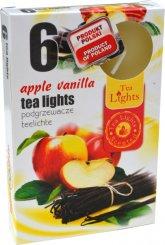 Čajové svíčky 6 kusů –  Jablko a vanilka