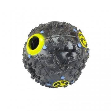Pískací míček pro pejsky - černý