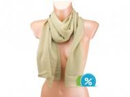 Letní šátek jednobarevný - světle hnědý