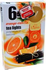 Čajové svíčky 6 kusů –  Pomeranč a vanilka