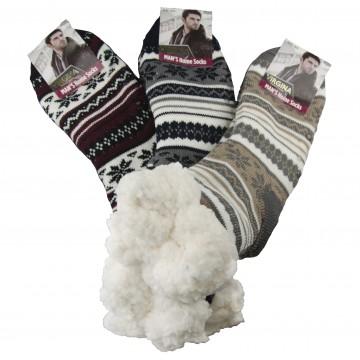 Ciorapi colorați super termo - bărbați, 1 pereche - mărimea 39-42