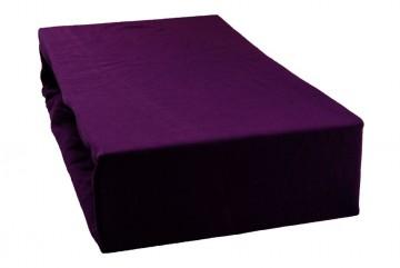 Prostěradlo jersey 220x200 cm - purpurové