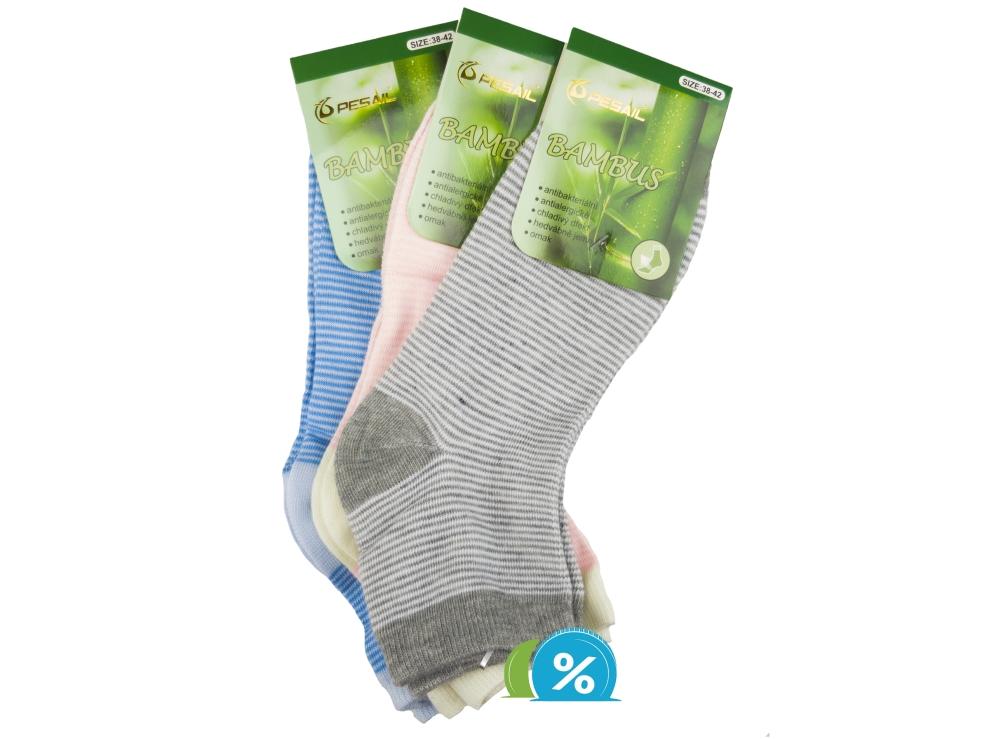 Dámské kotníkové bambusové ponožky Pesail ZH-6229 - 3 páry 69c1fc7bef