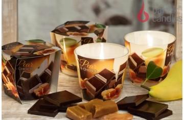 Vonná svíčka ve skle - Karamel, hruška, čokoláda, 115g
