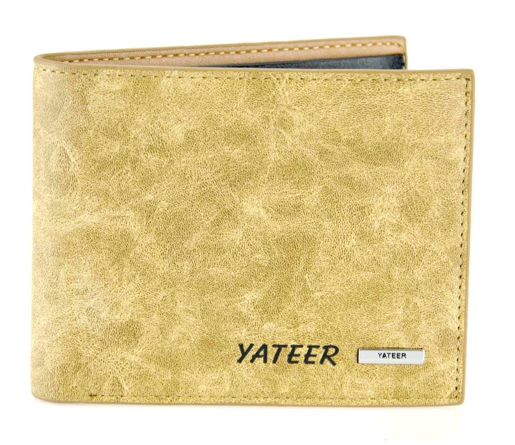 Pánska peňaženka Yateer - svetlo hnedá žula [188]