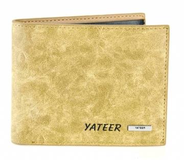 Pánská peněženka Yateer - vzor světle hnědá žula [984]