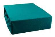 Prostěradlo jersey 180x200 cm - tmavě zelené