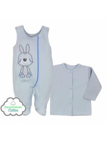 2-dielna dojčenská BIO súprava Koala Bunny modrá