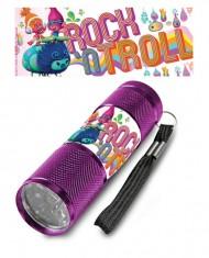 Dětská hliníková LED baterka Trollové ROCK