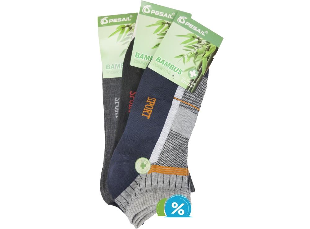 Șosete din bambus pentru bărbați Pesail XM2218, 3 perechi - mărimea 43-47