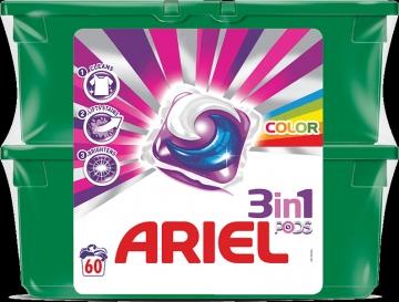 Ariel 3in1 PODS Color & Style kapszula - 60 darab