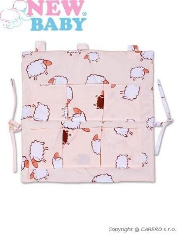 Kapsář New Baby béžový s ovečkou