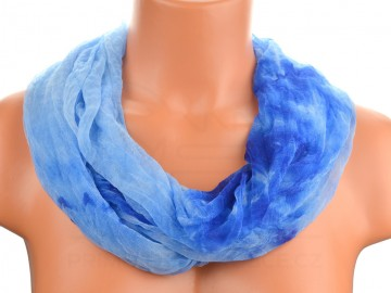 Šátek tunel batika - modrý