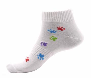 Ponožky - Tlapka barevná nízké - velikost 35-38