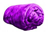 Deka z mikroflanelu, velikost 150x200 cm - fialová