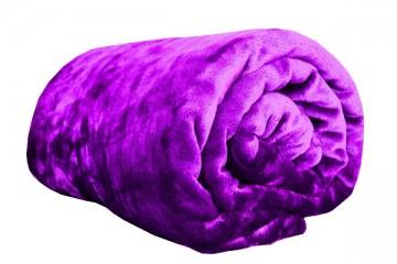 Pătură din microflanel, dimensiuni 150x200 cm - violetă