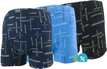 Boxeri din bambus Pesail M0158 - 3 perechi, mărimea L